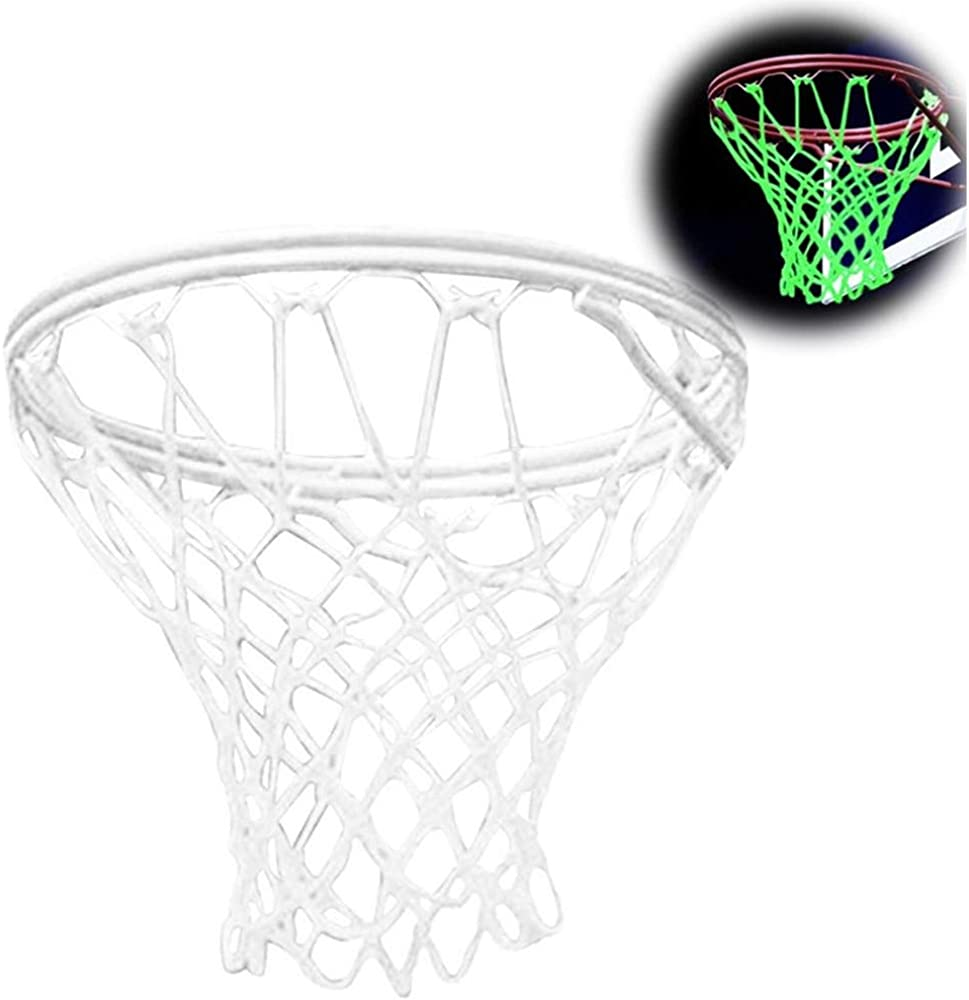 Luminous Outdoor Indoor Standard Hoop Rim Replacement Basketball Net Black