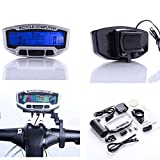 SODIAL(R) LCD Bicycle Bike Cycling Computer Odometer Speedometer Velometer With Backlight