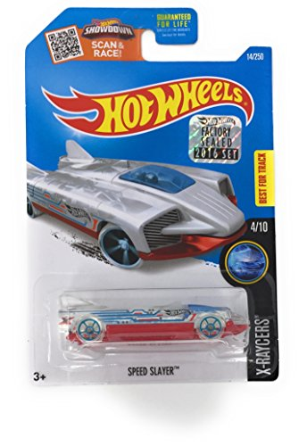 Hot Wheels 2016 Speed Slayer 14/250 X-raycer Clear with Chrome Interior ()