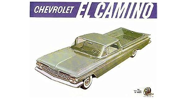BEAUTIFUL, FULL COLOR 1959 CHEVROLET EL CAMINO TRUCK DEALERSHIP ...