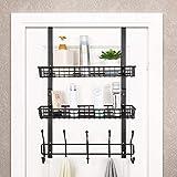 Over The Door 5 Hook Shelf Organizer Hanger Coat