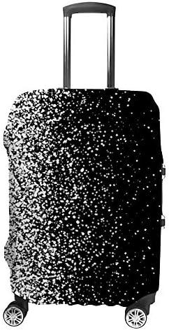 スーツケースカバー 伸縮素材 トラベルダストカバー キャリーカバー 紛失防止 汚れや傷防止 お荷物保護 トラベルダストカバー 着脱簡単 通気性 海外旅行 出張用 便利グッズ 男女兼用 降る雪の夜空