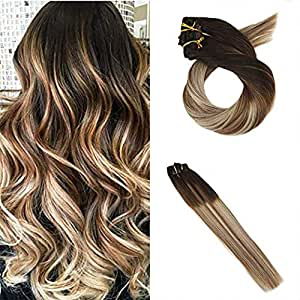 moresoo 22 inch remy human hair extensions. Black Bedroom Furniture Sets. Home Design Ideas