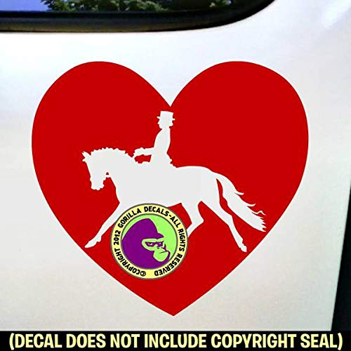 PEACE LOVE DRESSAGE Horse Rider Vinyl Decal Sticker D