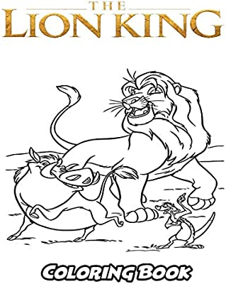 The Lion King Coloring Book Coloring Book For Kids And Adults