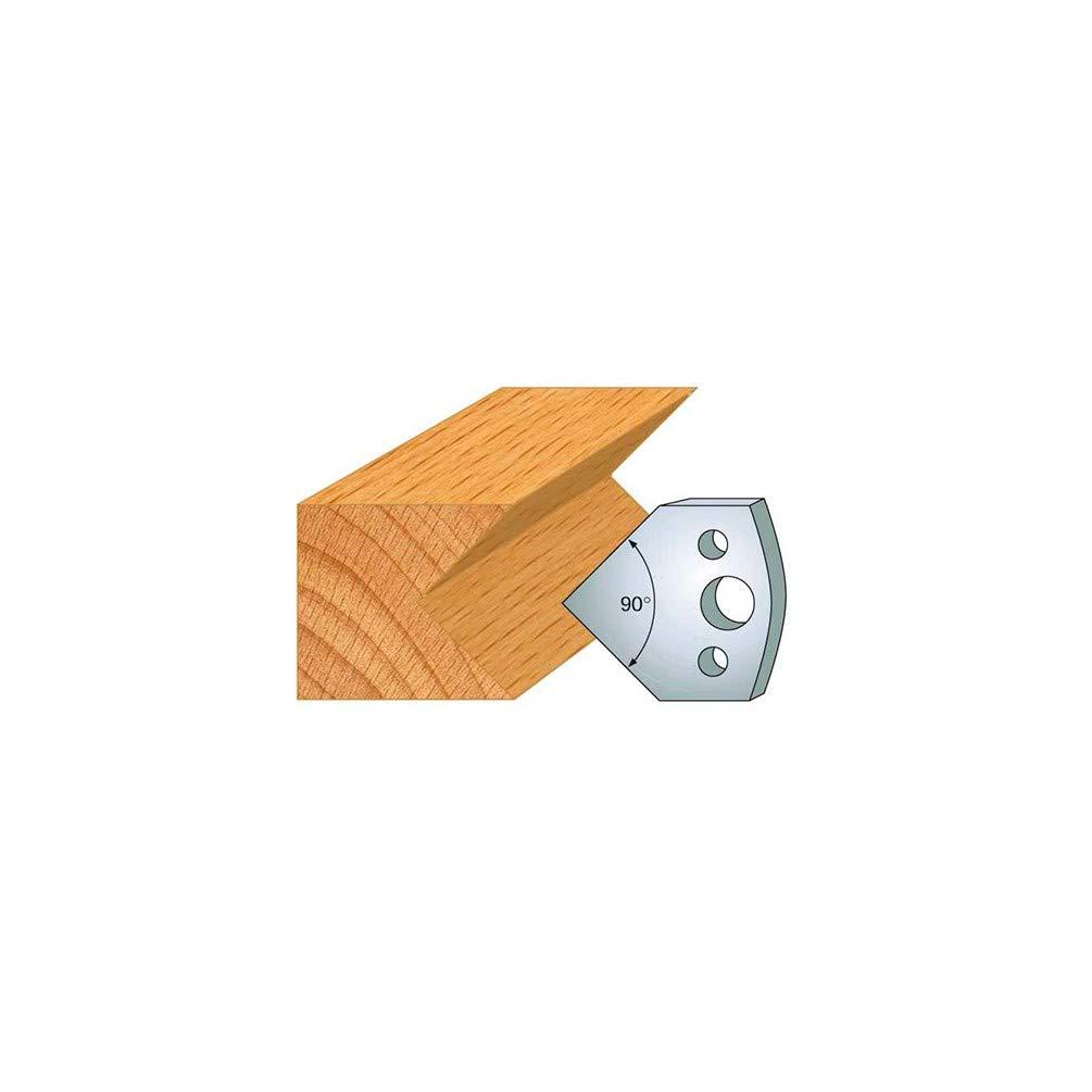 127 Jeu de 2 fers chanfrein double ht 40 mm pour porte outils entraxe plot 24 mm