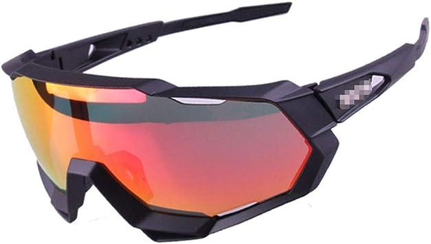 GAFAS SOL Protección UV400 Deportes Polarizados Ciclismo Gafas para Correr Deportes para Mujeres Y Hombres para Correr Ciclismo Pesca Golf 3 Lentes Intercambiables,B: Amazon.es: Deportes y aire libre