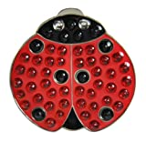 Navika Crystal Golf Ball Marker & Hat/Visor Clip - Lady Luck (Lady Bug)