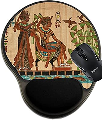 MSD Natural Rubber Mousepad wrist protected Mouse Pads/Mat with wrist support design: 3693997 beautiful ancient egyptian papyrus showing pharaoh on boat