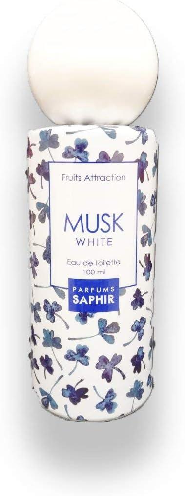 PARFUMS SAPHIR  Fruit Attraction Musk White Eau de Toilette para Mujeres - 100 ml