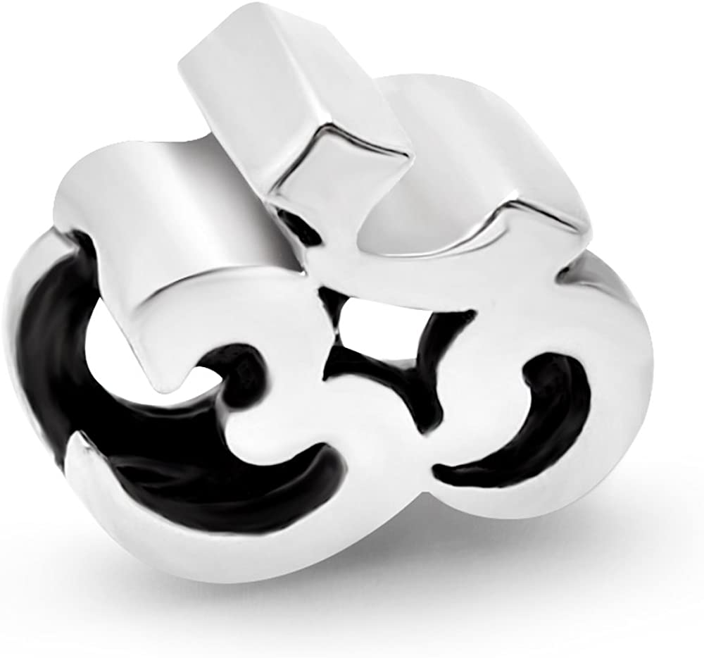I Love Yoga Charm Bead 925 Sterling Silver