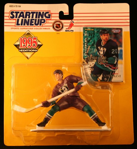 BOB CORKUM / MIGHTY DUCKS OF ANAHEIM 1995 NHL Starting Lineup Action Figure & Exclusive NHL Collector Trading Card