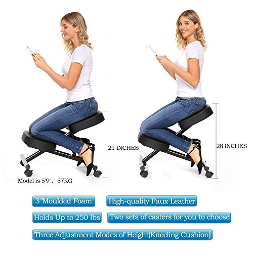 Ergonomic Kneeling Desk Chair Unique Design Health Care