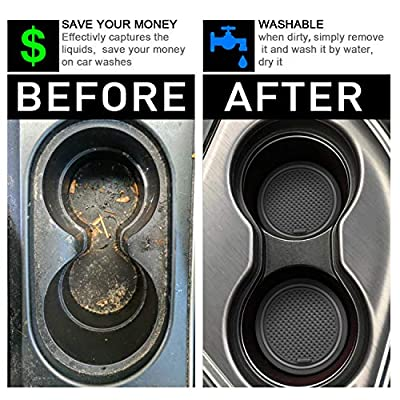 SENSHINE for Toyota Tacoma 2016-2020 Custom Liner Accessories Cup Holder, Console, and Door Pocket Inserts (Double Cab) (Gray Trim): Automotive