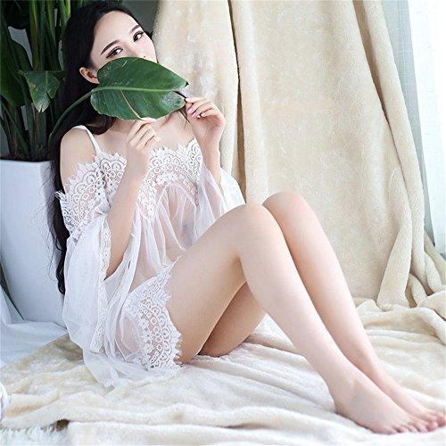 Pigiama Sexy sexy SMC 40 pigiami White Tentazione da Dimensione Average Set trasparente pigiama Average Summer Code Color in code Average pizzo donna 80kg intima White Sling Principessa Biancheria 8EETZq