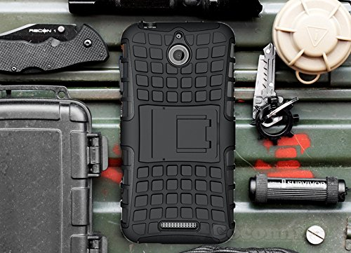 r HTC Desire 510 Case New [Heavy Duty] Premium Tactical Grip Kickstand Shockproof Hard Bumper [Military Defender] Full Body Dual Layer Rugged Cover for HTC Desire 510 (G.Black) ()