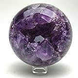 Astro Gallery Of Gems Amethyst Geode Agate Sphere (3.9'' diameter, 2.5 lbs)