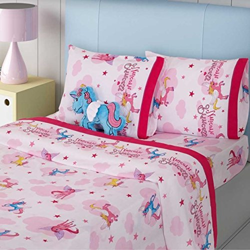 NEW PRETTY COLLECTION UNICORNS KIDS GIRLS BEDSPREAD SET AND SHEET SET 8 PCS FULL SIZE by JORGE'S HOME FASHION INC