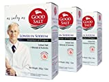GoodSalt: The Better Salt with Potassium and Magnesium, Tasty Low Sodium Iodized Mineral Salt, Less Sodium Healthy Salt Substitute with Real Salt Taste, VALUE PACK SAVE $2.50, 3 Packs of 12 Ounces