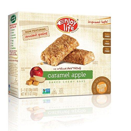 1 Ounce Apple - Enjoy Life Foods, Baked Chewy Bars, Caramel Apple, 5 Bars, 1 oz (28 g) Each(Pack of 1)