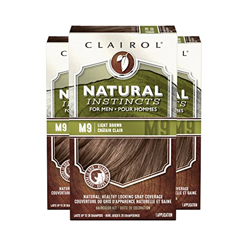 Clairol Natural Instincts Semi-Permanent Hair Color Kit For Men, 3 Pack, M9 Light Brown Color, Ammonia Free, Long Lasting for 28 Shampoos by Clairol (Image #3)