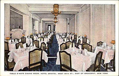 Table D'Hote Dining Room, Hotel Bristol New York, New York Original Vintage Postcard (Dining Table Bristol)