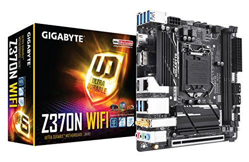 GIGABYTE Z370N WIFI (Intel LGA1151/ Z370/ Mini-ITX/ 2xM.2/ 2xLAN/ Onboard Wi-Fi/ HDMI 2.0a/ PCIe Bifurcation/ USB3.1 Gen1 Type-C/ 2x2 11ac Wireless/ RGB Fusion/ Smart Fan 5/ DP/ Motherboard)