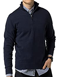 Men's Relaxed Fit Quarter Zip Sweater Pullover