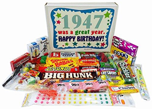 ReviewMeta 1947 70th Birthday Gift Basket Box Retro Nostalgic Candy From Childhood