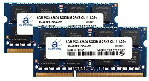 Adamanta 16GB (2x8GB) Laptop Memory Upgrade for Dell Inspiron 15 5000 Series 5558 DDR3L 1600Mhz PC3L-12800 SODIMM 2Rx8 CL11 1.35v Notebook DRAM