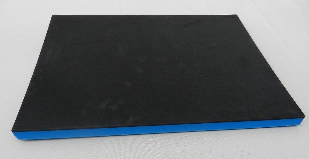 Werkzeugeinlage Systemeinlage Universaleinlage schwarz/blau (64, 95 € /m² ) (400 x 600 x 30 mm) Gummifritz24de