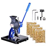 Shanhai Semi-automatic #2 Die Hand Press Grommet Machine w/ 4000Pcs Grommets & Eyelet Feeding & Rolling Base Tool Kit