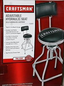 Craftsman Adjustable Hydraulic Seat Stool Black