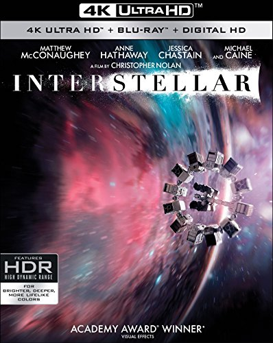Interstellar 4k Uhd Blu Ray Digital Jessica Chastain Anne Hathaway Matthew Mcconaughey Bill Irwin Mackenzie Foy Wes Bentley Matt Damon Casey Affleck David Gyasi Ellen Burstyn Topher Grace David Oyelowo