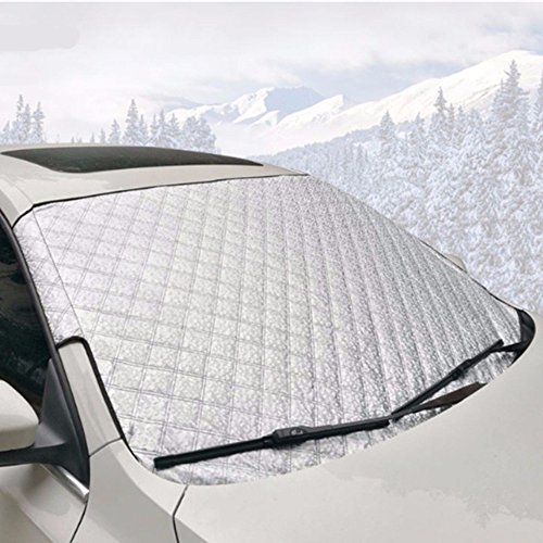 Car Windshield Snow & Ice Cover-Sun Shade Protector-Frost Rain Resistant-Water Proof, Windproof-Fits All Cars Vans