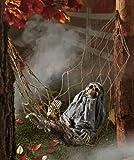 1 X Interactive Skeleton in Hammock spooky Halloween decoration sound-activated