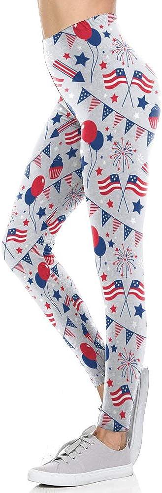 Dasbayla Green Clover Pattern Stretchy Leggings for Women Black Shamrock Skinny Pants