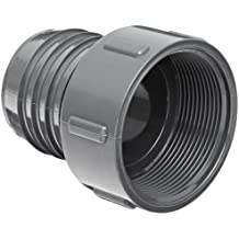 Spears PVC Tube Fitting, Adapter, Schedule 40, Gray, Barbed x NPT Female