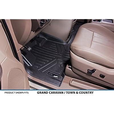 MAXLINER Floor Mats 1st Row 1 Piece Liner Black for 2008-2020 Dodge Grand Caravan / Chrysler Town & Country: Automotive