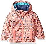 Roxy Girls' Toddler Mini Jetty Snow Jacket, Shell Pink_Indie Stripes, 6/7