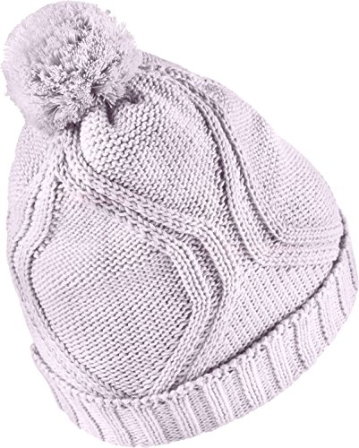 Nike Women's Chunky Cable Knit Winter Hat Bleached Lilac/White