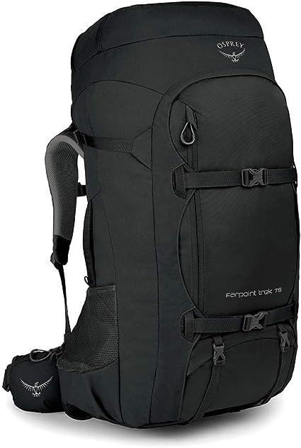 Amazon Com Osprey Farpoint Trek 75 Men S Travel Backpack Black Sports Outdoors