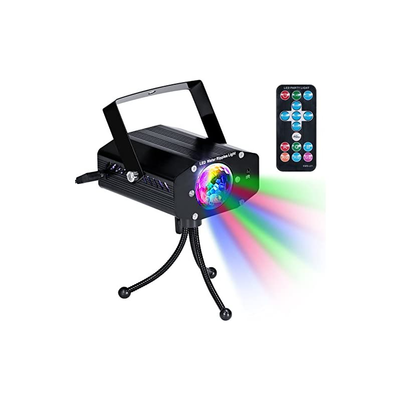 KINGTOP Disco Party Lights DJ Stage Led Strobe Lights Remote Control Sound Activated Color Rotating Home Birthday Karaoke DJ Parties Night Lighting (Black)