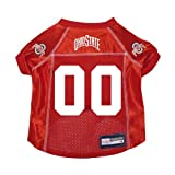 Ohio State Buckeyes Premium NCAA Pet Dog Jersey w/ Name Tag SMALL