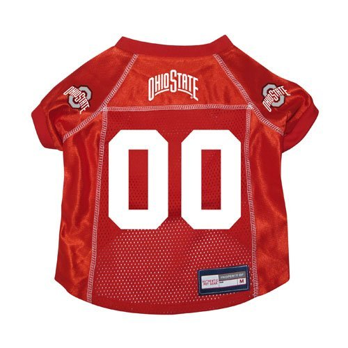 Ohio State Buckeyes Premium NCAA Pet Dog Jersey w/ Name Tag LARGE