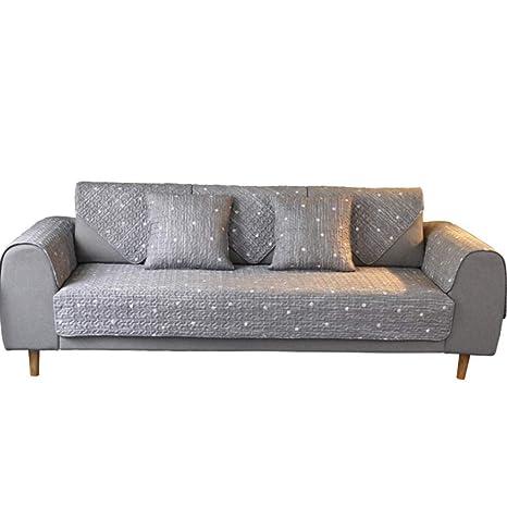 ZMYLOVE Sofá de Rayas, Protector de sofá Paño de algodón ...