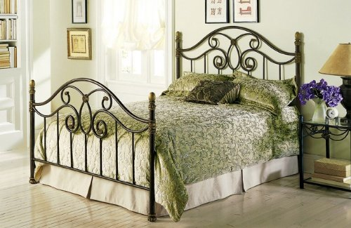 - Fashion Bed Group Dynasty Metal Bed in Autumn Brown Finish King