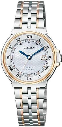 0b25aaa03d Amazon | [シチズン]CITIZEN 腕時計 EXCEED エクシード Eco-Drive エコ・ドライブ 電波時計 35周年記念モデル  ペアモデル ES1034-55A レディース | 国内メーカー ...