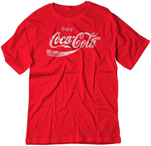 (BSW Youth Enjoy Coca-Cola Coke Pop Soda Drink Vintage Logo Shirt XL Red)