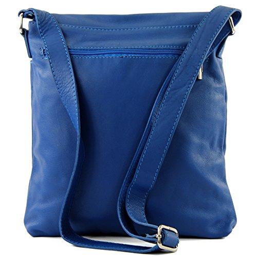 del del de T75 modamoda de grande Ital bolso de hombro mensajero las Blau2 bolso cuero señoras 4qtPX6tw